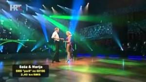 Saša Lozar i Marija Šantek u drugoj emisiji Plesa sa zvijezdama