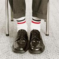 Sportske čarape na plesne cipele